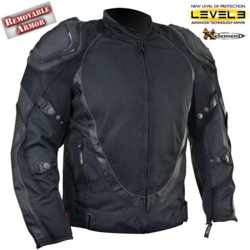 Men's Black Motorcycle Jacket with Breathable 3 Way Lining and Level 3 Armor