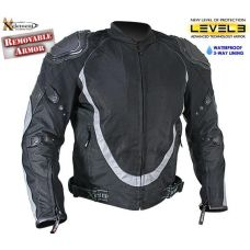 Xelement Men's Black and Silver Motorcycle Jack...