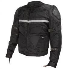 Xelement CF-751 Men's Black Motorcycle Breathab...