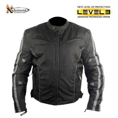 Men's Black and Gray Vented Level-3 Armored Tri-Tex Fabric Jacket