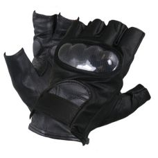 Men's Leather Knuckle Protected Riding Fingerle...