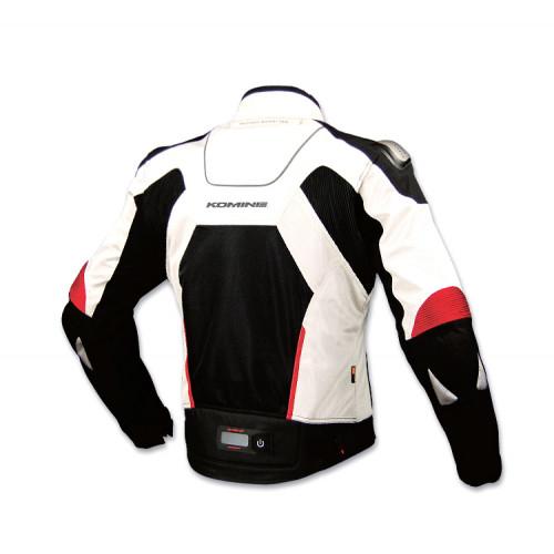 AAJK-015 текстильная мотокуртка Komine white-black TEST