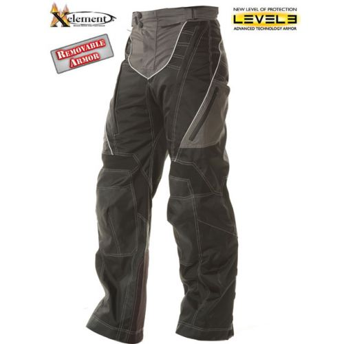 Xelement Advanced Level-3 Black Tri-Tex Fabric Motorcycle Pants