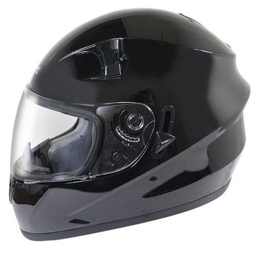 Hawk ST-1150 Glossy Black Dual-Visor Full-Face Motorcycle Helmet