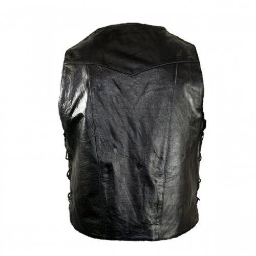 Жилет Xelement XS1937 Black Motorcycle Leather Vest