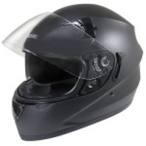 Hawk ST-1150 Matt Black Dual-Visor Full-Face Motorcycle Helmet
