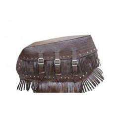 Кофры кожаные Indian с бахромой коричневый