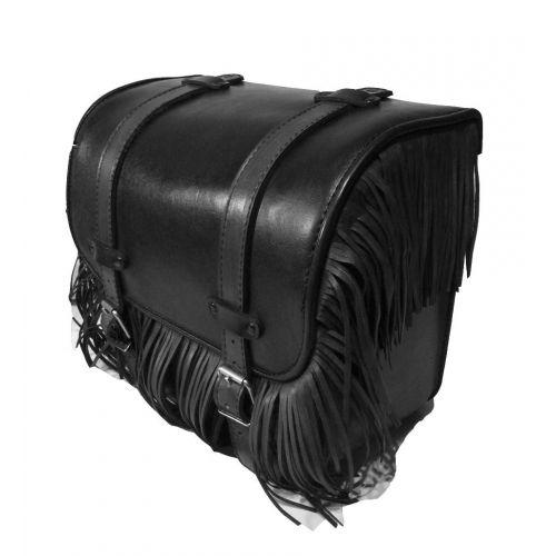 Кофры кожаные Ковбой чёрный средние