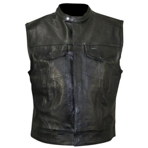 Жилет Xelement XS1937 Black Motorcycle Leather Vest