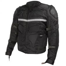 Xelement CF-751 Mens Black Motorcycle Breathabl...