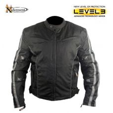 Mens Black and Gray Vented Level-3 Armored Tri-...