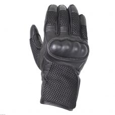 Перчатки (дорожные) мужские INFLAME RECKRUIT, кожа+сетка, цвет черный
