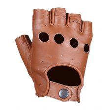 Перчатки (обрезки) мужские INFLAME CHOPER, кожа, цвет коричневый