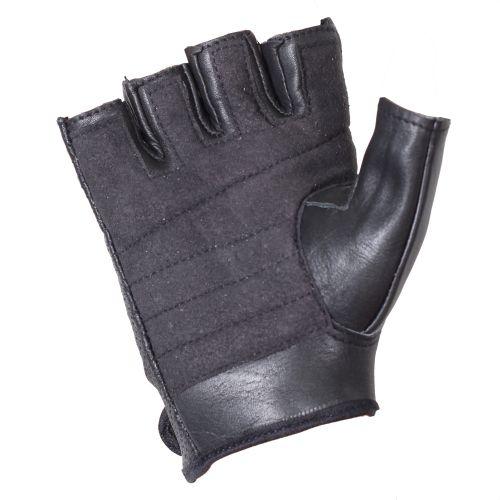 Перчатки (обрезки) мужские INFLAME HARD ROCK, кожа, цвет черный