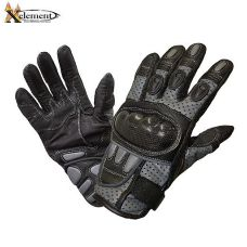 Mens Protective Padded Leather Racing Gloves