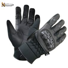 Men's Short Gel Padded Palm Leather Racing