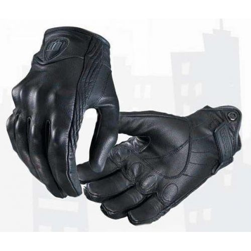Mens Icon Short Palm Leather Racing Gloves