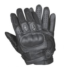 Mens Short Gel Padded Palm Leather Racing Gloves