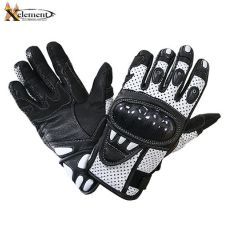 Xelement Black and White Leather Motorcycle Rac...