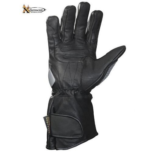 Xelement Motorcycle Silver Carbon Gloves
