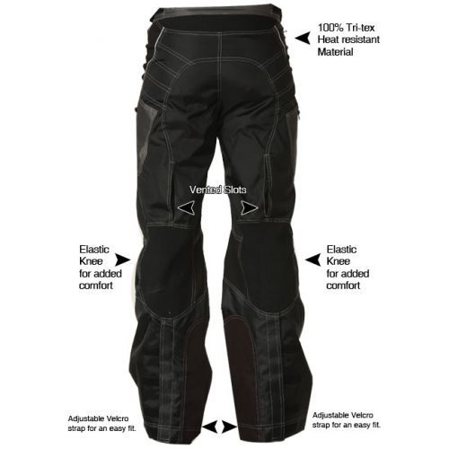 Мотоштаны Xelement Advanced Level-3 Black Tri-Tex Fabric Motorcycle Pants