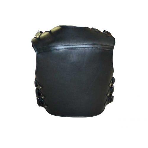 Жилет Черепаха черный с белой обводкой