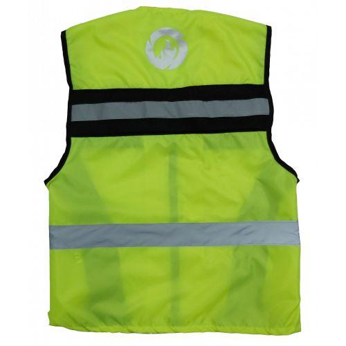 Жилет INFLAME сигнальный FIREFLY текстиль+сетка, цвет зеленый неон
